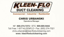 KLEEN-FLO CORPORATION: DUCT CLEANING