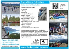 Specialists in Adventure in the heart of the Rockies