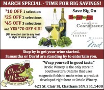 MARCH SPECIAL - TIME FOR BIG SAVINGS!