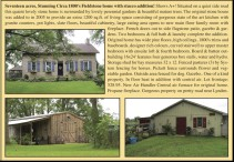 Seventeen acres, Stunning Circa 1800's Fieldstone home with stucco addition!
