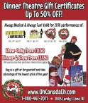 Dinner Theatre Gift Certificates Up To 50% OFF!