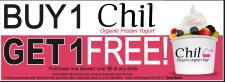 BUY 1 Chil Organic Frozen Yogurt, GET 1 FREE!
