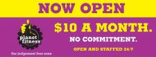 $10 A MONTH at Planet Fitness