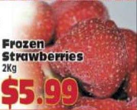 Frozen Strawberries at Almost Perfect Grocery