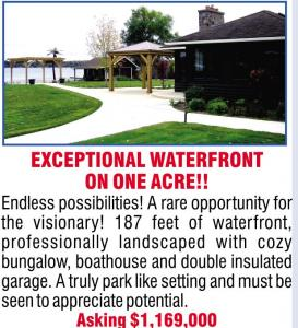 Exceptional Waterfront On One Acre