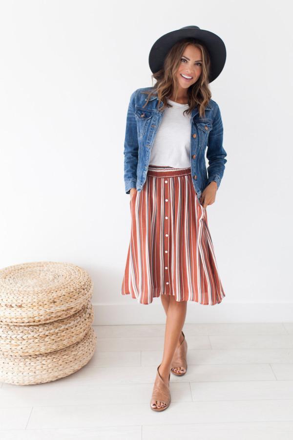 Sloane Skirt (Rust)
