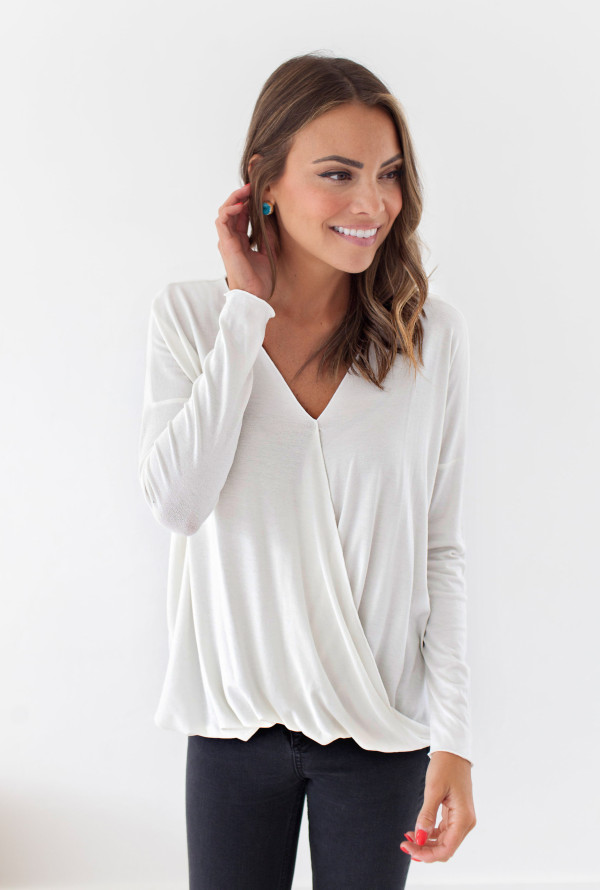 So Wrapped Up In You Top (White)