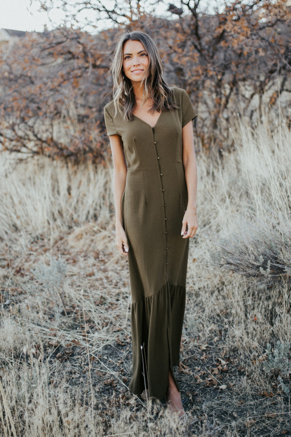 Dance With Me Dress (Olive)