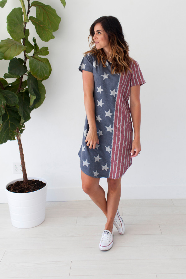 Flag Me Down Dress