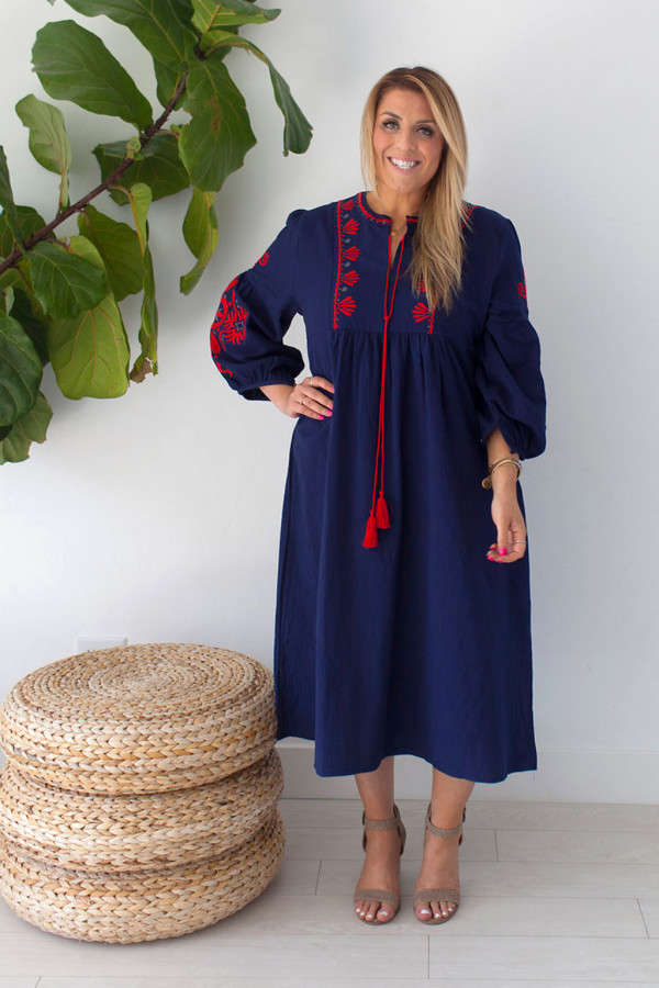 Fable Embroidered Dress