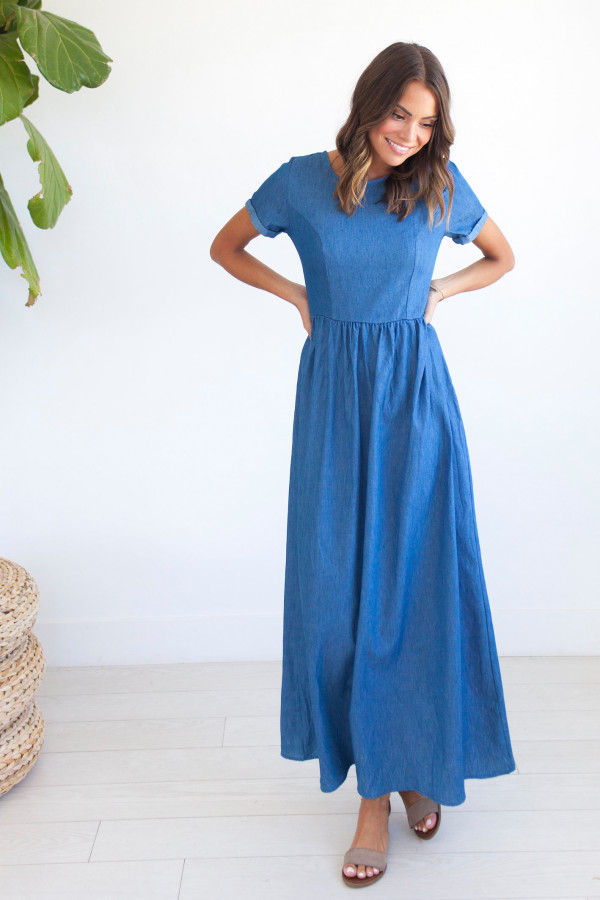 Reagan Chambray Dress