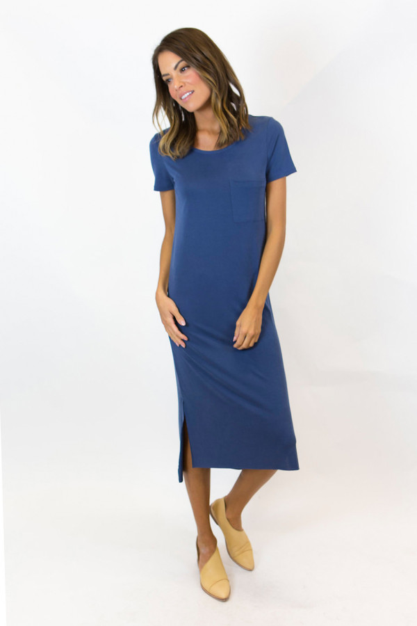 Essential Tee Dress (Blue)