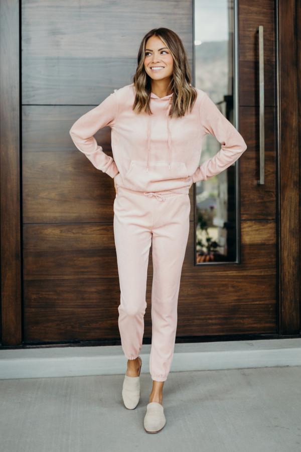 Vintage Velour Track Suit (Pink)
