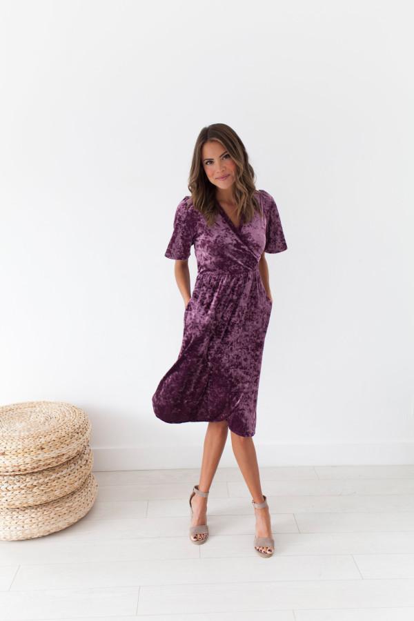 MG Viva La Velvet Dress (Deep Lavender)