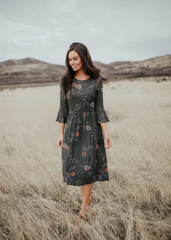 Enchanted Autumn Dress (Green)