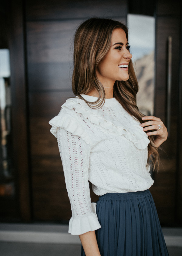 Ruffle Your Feathers Sweater