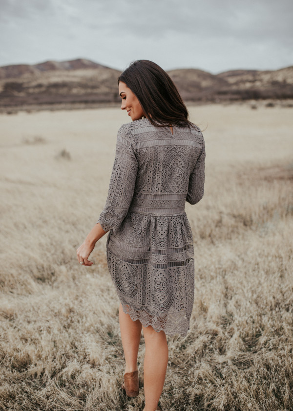 Caught Up In You Dress (Gray)