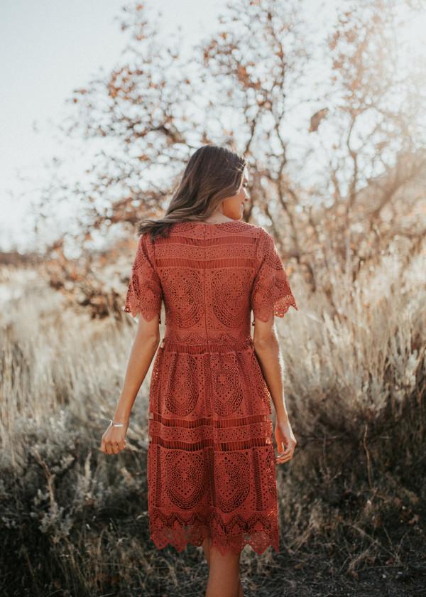 Ladies First Dress (Rust)