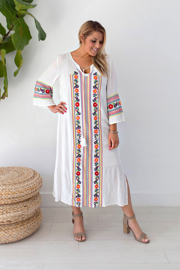 Rosalie Embroidered Dress