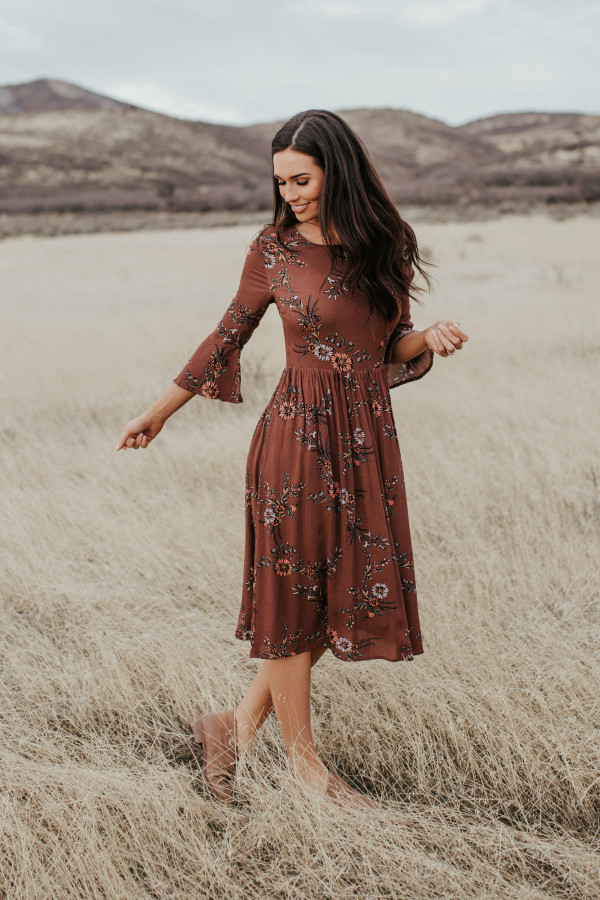 Enchanted Autumn Dress (Brown)