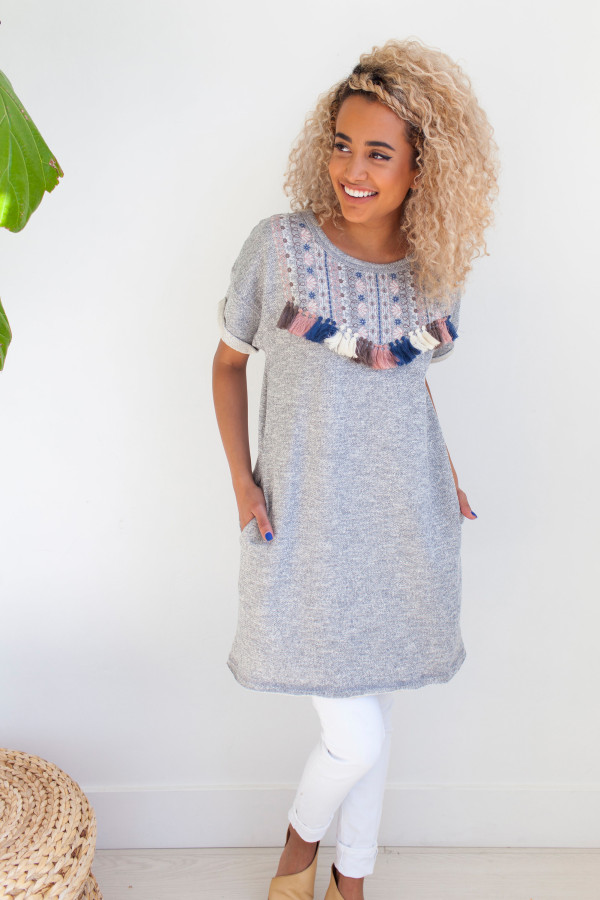Tied & True Sweatshirt Tunic