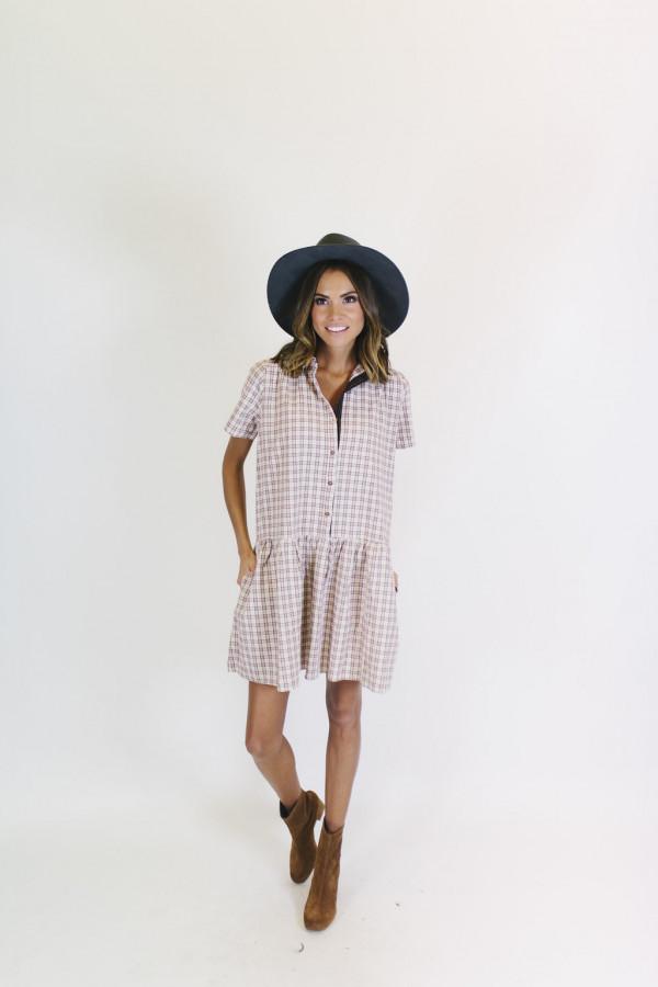 Penny Pocket Dress - Burgundy