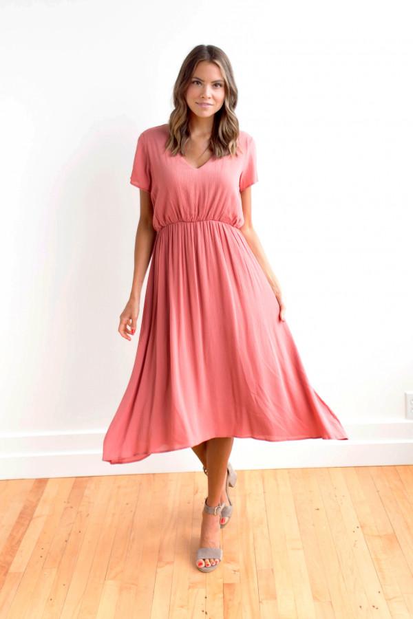 Take A Twirl Dress (Coral)