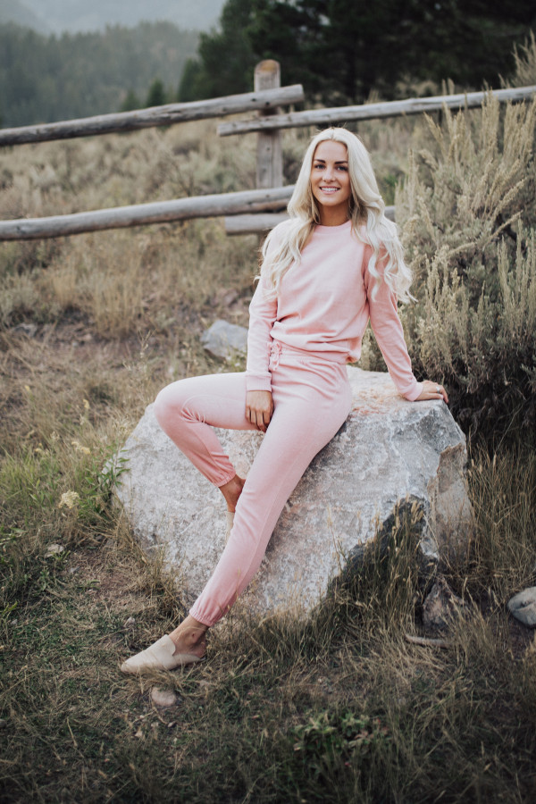 Velour Track Suit (Pink)