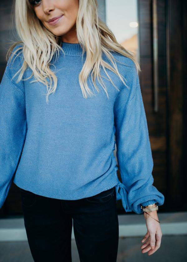 Tied & True Sweater - Blue
