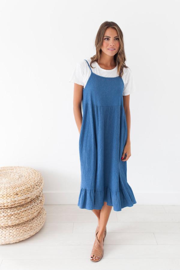 Just Maybe Chambray Dress