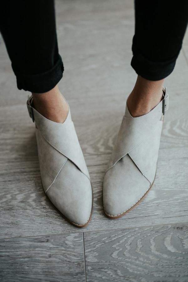 Fran Wrap Booties (Light Gray)