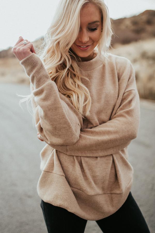 Soft & Cuddly Pullover (Tan)
