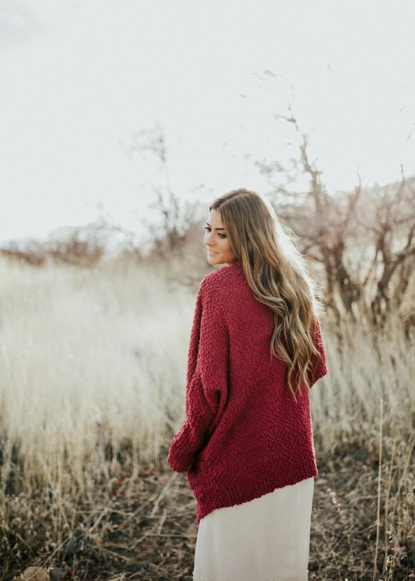 Colorado Cardi - Raspberry