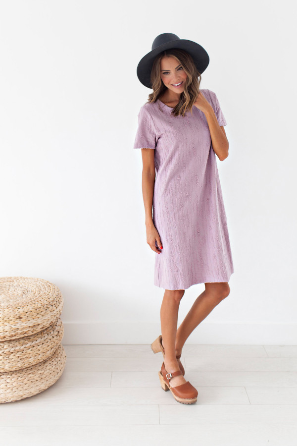 Lexi Textured Dress (Lavender)