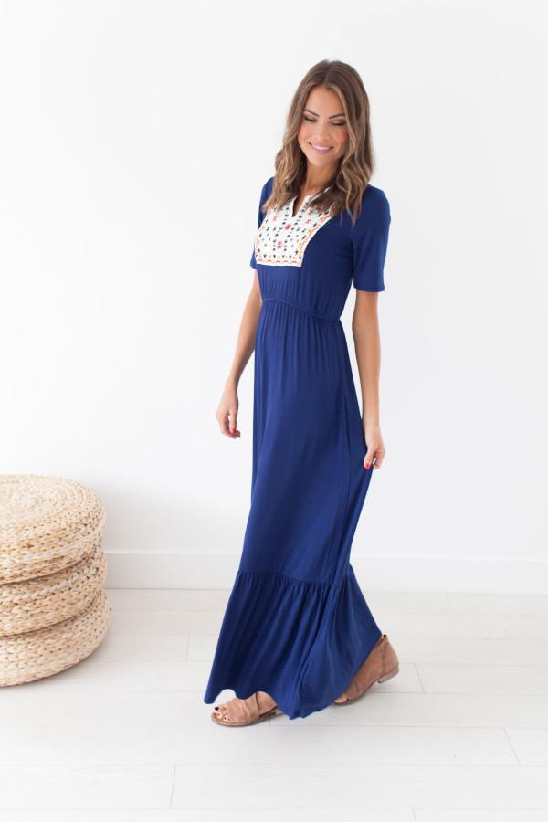 Moonchild Dress (Navy)