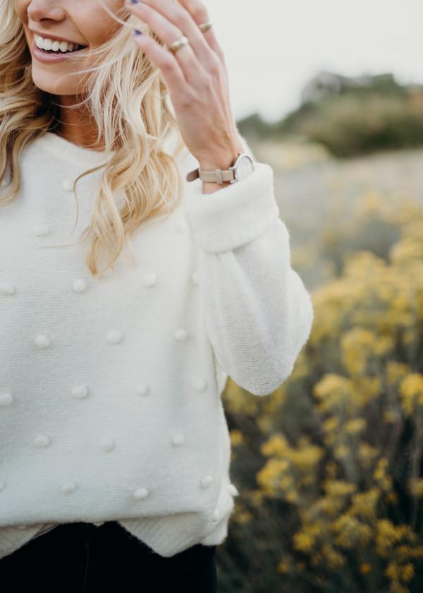 Falling Softly Sweater (Ivory)