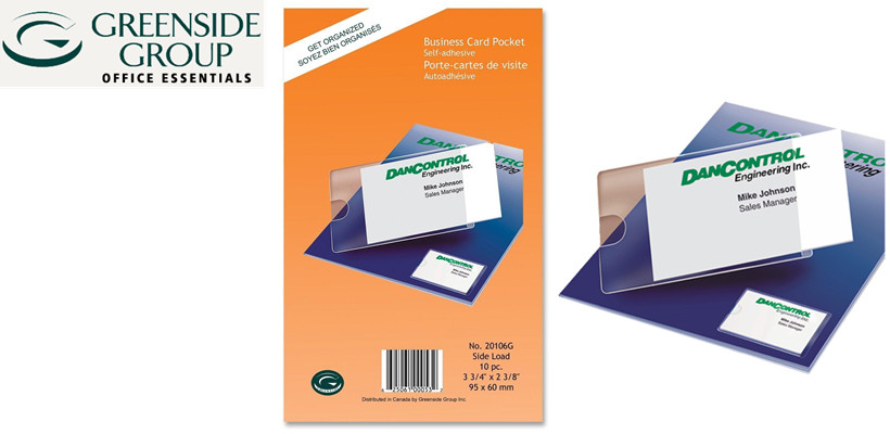 Greenside group self adhesive business card pocket 10 card pockets holds single cards colourmoves