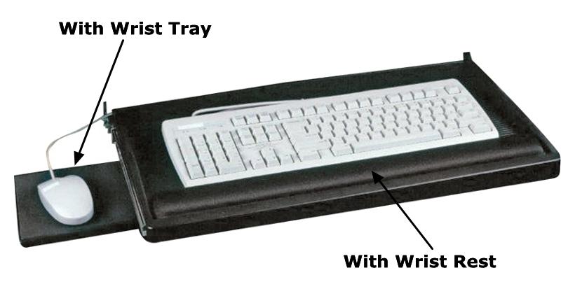 Exponent 174 Underdesk Black Keyboard Drawer 123inkcartridges