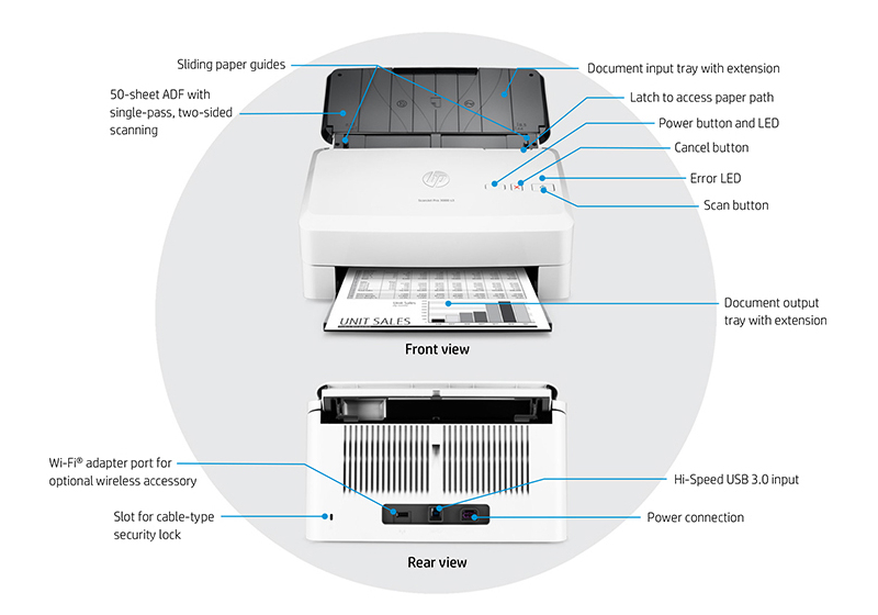 Hp Scanjet Pro 3000 S3 Sheet Feed Scanner L2753a
