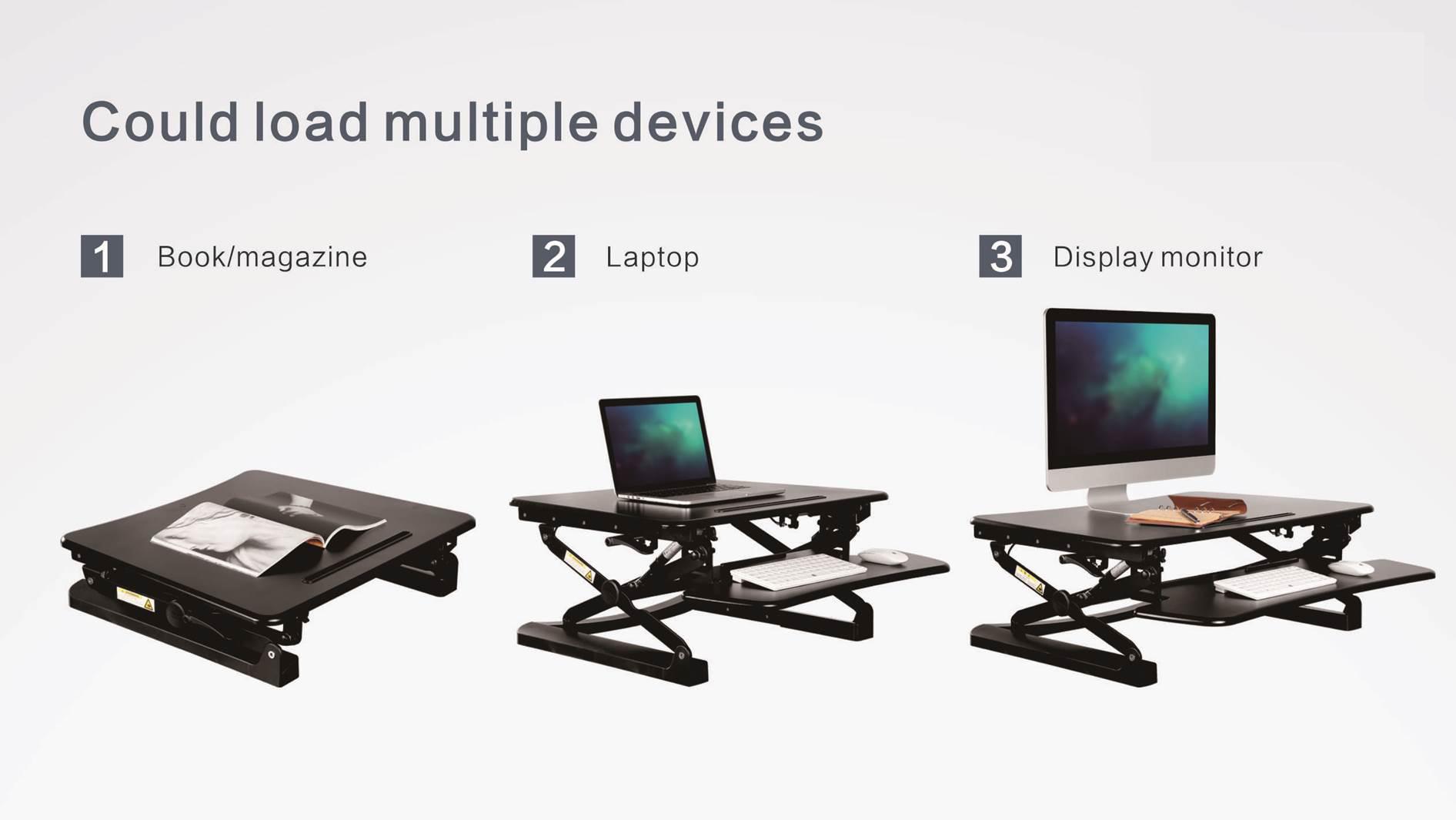 Sit Standing Height Adjustable Desk Ergo Riser Ergonomic