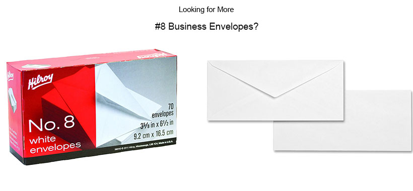 hilroy no 8 white business envelope 3 63 x 6 50 gummed wove
