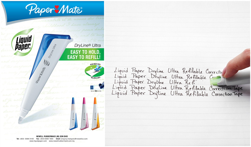 papermate liquid paper dryline ultra refillable correction tape 242552
