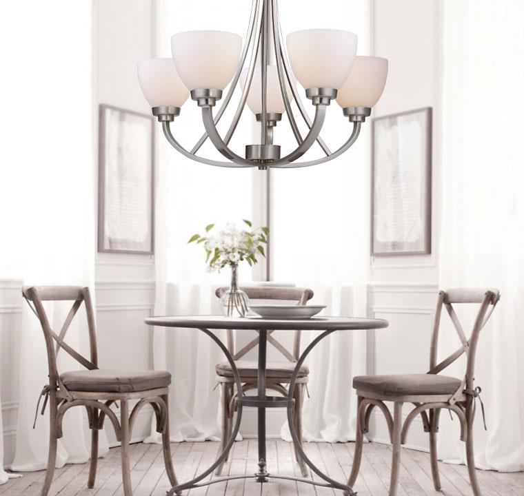 Nickel Dining Room Chandeliers: Brushed Nickel Dining Room Light Fixtures