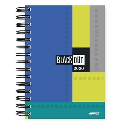 Agenda diária Black out azul 2020 20003 Spiral Blk PT 1 UN
