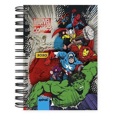 Agenda diária Marvel 2020 20026 Spiral Mv PT 1 UN