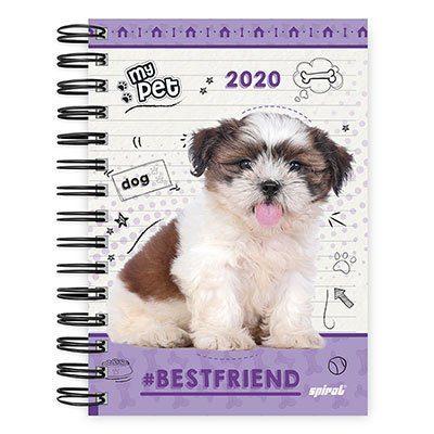 Agenda diária My Pet 2020 20033 Spiral Pet PT 1 UN