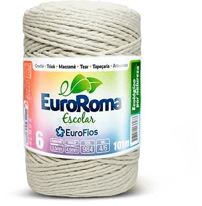 Barbante 6 fios 85% algodão c/101 mts Euroroma PT 1 UN