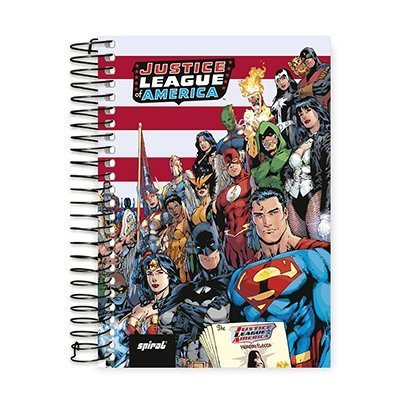 Caderno 1/4 espiral capa dura 96fls L. Justiça 20773 Spiral Lig PT 1 UN