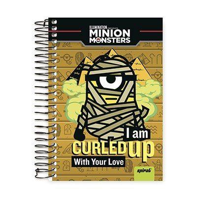 Caderno 1/4 espiral capa dura 96fls Minions 20771 Spiral Mim PT 1 UN Código: 123551