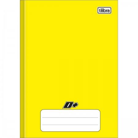 Caderno Brochura Capa Dura 1/4 D+ Amarelo 96 folhas 140mm x 200mm